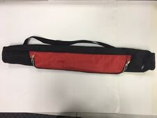 6 Can Insulated Tube Cooler with Main Zipper Red and End Zipper CA668Red