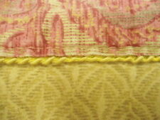King Size Flat Top Sheet from Croscill in Belissima Red & Gold with Border