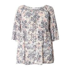Evans Ivory Abstract Print Top Size UK 26 LF077 BB 21