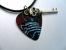 IRON MAIDEN Guitar Pick / Plectrum and Skull Key  Leather Necklace Six To Choose