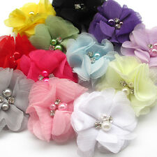 12PCS Pet Dog Hair Clips Ribbon Bows Cat Puppy Hair Accessories Grooming Big
