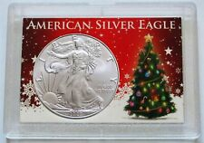 2020 AMERICAN SILVER EAGLE WITH CHRISTMAS GIFT CASE - GREAT STOCKING STUFFER!