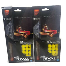 Nerf Rival 18 High Impact Rounds Refill Pack with 12 Round Magazine Clip 2 Pack