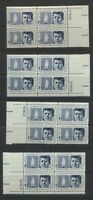 1246 John F Kennedy 1964 Plate # Block Matched Mint NH Complete Set of 4 Plates