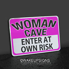 WOMAN CAVE SIGN ENTER AT YOUR OWN RISK ALUMINUM YOGA PERFUME BEAUTY  FRAGRANCE