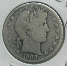 1909 Barber Half Dollar 50 Cents