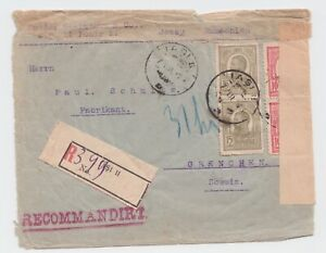 Romania COVER 1916 WWI IASI USED ROYAL MAIL POST COMMERCIAL RECORDED CENSOR