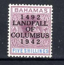 Bahamas KGVI  5/- 1942  overprint SG174a  MLH  [B240321]
