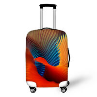 """Cool Designer Red Luggage Cover Protector Elastic Travel Suitcase Covers 18-28"""""""
