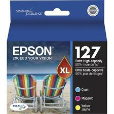 3-PACK Epson GENUINE 127 Color Ink (NO RETAIL BOX) for WORKFORCE WF-3520 WF-3540