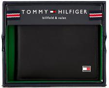 New Leather Tommy Hilfiger Oxford Slim Billfold Wallet Black