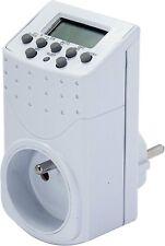 Programmateur Digital Blanc Prise Electrique Minuterie Programmable Horaire