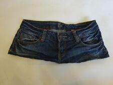 6 Inch Length - Blue Denim Micro Mini Skirt  size 10 - 12