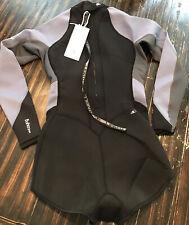 O'Neill Women's Bahia 2mm L/S Short Spring Wetsuit Black/Gray/Mist New Sz. 8