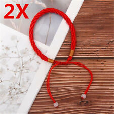 2X Feng Shui Red Rope String Lucky Charm Bracelet for Good Luck Wealth Health