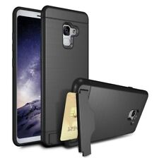 For Samsung Galaxy A8 2018 Shockproof Card Slot Kickstand Hard Cover Phone Case