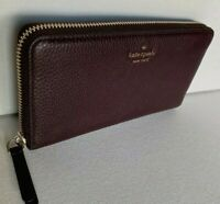 New Kate Spade New York Jackson Large Continental wallet Leather Cherry