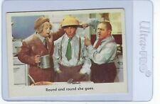 1959 Fleer The 3 Stooges Round And Round She Goes #86 Card White Back NM