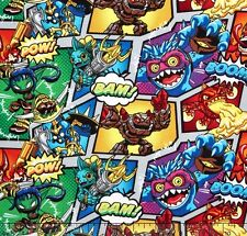 Skylanders Characters Camelot 100% cotton fabric by the yard