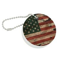 Rustic Illinois State Flag Distressed USA Stainless Steel 1oz Flask Key Chain