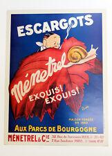 Escargots Menetrel Vintage Reproduction Litho Print - Amazing color