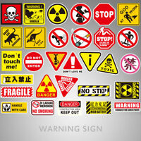 10/50PCS Warning Stickers Danger Waterproof Decal Sticker For DIY Laptop Luggage