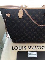 NEW AUTHENTIC LOUIS VUITTON MONOGRAM CANVAS NEVERFULL MM TOTE SHOULDER BAG