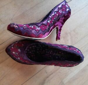 Irregular Choice Mutiny Stiletto Size 7 UK. Pink & Purple