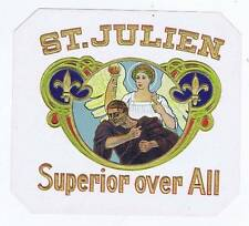 St. Julien, original outer cigar box label, angel