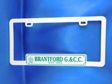 ONTARIO LICENSE PLATE HOLDER FRAME BRANTFORD GOLF & COUNTRY CLUB ADVERTISING