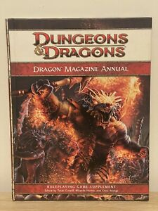 DRAGON MAGAZINE ANNUAL Dungeons & Dragons 4E 2009 Roleplaying RPG Hardcover book