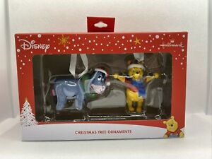 Hallmark Disney Winnie the Pooh & Eeyore Christmas Tree Ornaments New