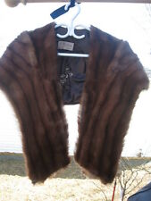 """Vintage Mink Stole Wrap Redish Brown 48"""" Inches Long"""
