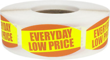 Everyday Low Price Retail Market Stickers, 0.75 x 1.375 Inches, 500 Labels Total