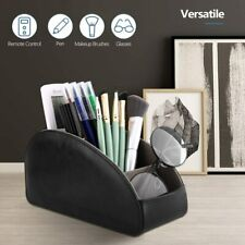 TiMOVO 5Compartments PU Leather TV Remote Control Holder Caddy Desktop Organizer