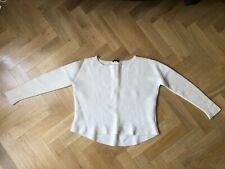 Theory Designer Wool Cream Cropped Jumper XS