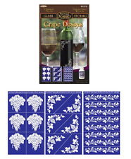 Set of 3 ~ Armour Rub n Etch Glass Etching Stencils ~Grape Designs