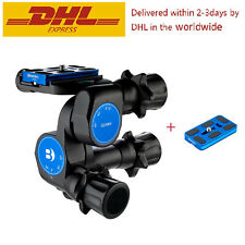 Pro BENRO GD3WH Tripod Geared Head and PU70 QR Plate for DSLR Sony Nikon Canon