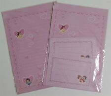 Disney Princess Heart Love Stationery Envelope Stationary Lined Letter Set NEW
