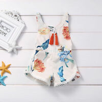 Baby Strap Romper Backless Outfits Toddler Girls Sunsuit bodysuit Lily Pattern