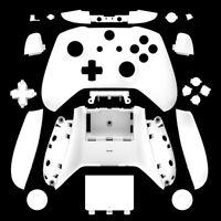 White Matt Xbox One S Controller Full Custom Replacement Shell Case Mod Kit Set