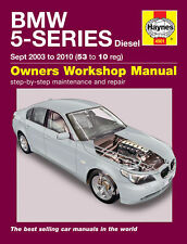 Haynes BMW 5-Series E60 E61 Touring  520D 525D 530D 2003-2010 Manual 4901 NEW