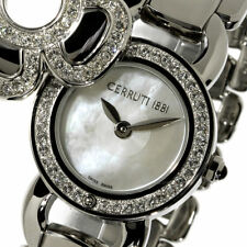CERRUTI 1881 LADIES FIORE SWISS QUARTZ WATCH NEW MOP SWAROVSKI SS CT68262X403021