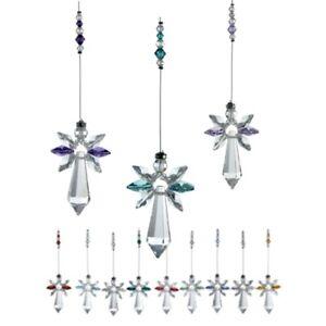 GENUINE Austrian LARGE Crystal Guardian Angel Suncatcher Genuine BIRTHSTONE
