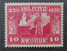 nystamps Iceland Stamp # 166 Mint OG H $60