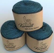 Alpaca Wool Skeins 100% Baby Alpaca Yarn Lot of 3  Pacific Color 5M003