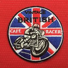 CAFE RACER TT VINTAGE BRITISH MOTORCYCLES BIKE BSA AJS BADGE IRON SEW ON PATCH