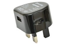 Compact USB Caricabatterie a parete 2100ma Per Iphone Android Samsung Tablet-Nero