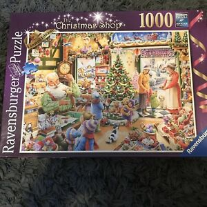 RAVENSBURGER 'The Christmas shop' 1000 Piece Jigsaw Puzzle