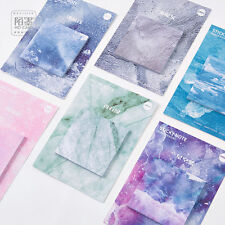 6 Marble Memo Pad Planner Paper Sticky Notes Office Note Pad set